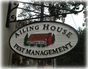 Ailing House Pest Management - Pest Control Services - Saratoga CA- Location Sign